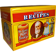 SALE Van Camp's Pork and Bean's Limited Edition Recipe Box