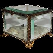 SALE Regency Era 19th Century British 14k Gold Dresser Casket
