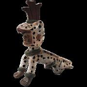 SALE Vintage Folk Art Costumed Man Pottery Flute