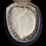 SALE Art Deco Brilliant Cut Round Crystal Choker Necklace