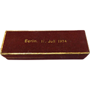 Golden Bear Stickpin Commemorating 1954 German Presidential Election