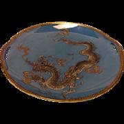 SALE Japanese Porcelain Lusterware Gilded Moriage Dragon Platter