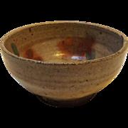 SALE Japanese Lead Glazed Stoneware Rice Bowl