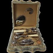 SALE Rare 19th Century Figural Carp Boudoir Set