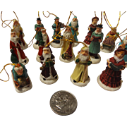 SALE Vintage Ceramic Miniature Christmas Tree Ornament Set