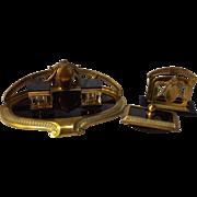 SALE Art Deco Brass & Marble B. Altman Desk Set