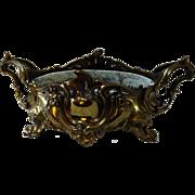 SALE Gold Plated Bronze French Nouveau Centerpiece Bowl