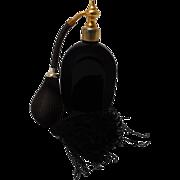 SALE Marcel Franck French Ebony Glass Perfume Atomizer