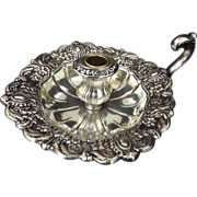 SALE Turn of the Century Towle Silver Repousse Electroplate Chamber Stick