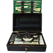 SALE c. 1900 Midocq & Gaillard French Travel Vanity Set