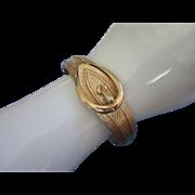 SALE Avon Faux Buckle Clamper Bracelet in Gold Tone