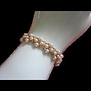 REDUCED Delicate Napier Woven Faux Pearl Bracelet ~ REDUCED!!