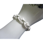 SALE Monet Summer White Enamel Bracelet