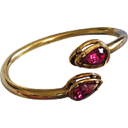 REDUCED Clara Bright Fuchsia Rhinestone Bangle Bracelet ~ REDUCED!