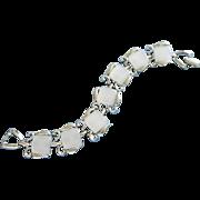 SALE Vintage Dove Gray Moonglow Lucite Bracelet