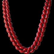 SALE Vintage Napier Red Enamel Links Necklace
