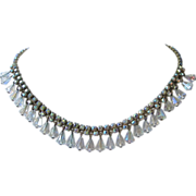 REDUCED Vintage AB Rhinestone and Crystals Choker Necklace ~ REDUCED!
