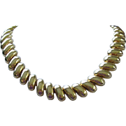 SALE Classic Style Bright Gold Tone Necklace