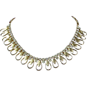 SALE Vintage Sarah Coventry Rhinestone and Gold Tone Necklace