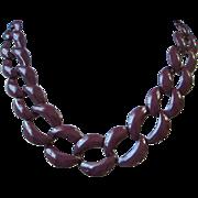 SALE Napier Eggplant or Aubergine Enamel Necklace