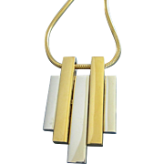 Avon Mixed Metal Modernist, Geometric Necklace