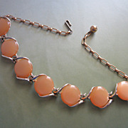 SOLD Vintage Butterscotch Moonglow Lucite Choker Necklace