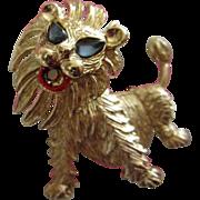 SALE Adorable Vintage Trembler Lion Pin Brooch