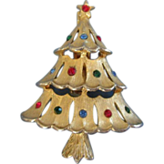 REDUCED Signed JJ Petite Christmas Tree Pin Brooch ~REDUCED!