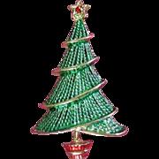 SALE Vintage Enamel Holiday Christmas Tree Pin