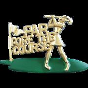 SALE Danecraft Enamel and Gold Tone Golf Pin