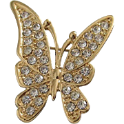 SALE Petite and Pretty Rhinestone Butterfly Pin