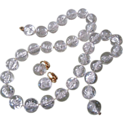 REDUCED Wonderful Clear Bubble Beads Necklace & Earrings Set ~ REDUCED!