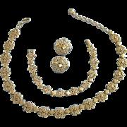 SALE Avon Gold Tone Precious Pretenders Set, Necklace, Bracelet, Earrings