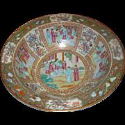 19th c. Chinese Export Rose Mandarin Wash Bowl