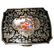 19th Century Sterling Silver&Enamel Antique Card Case