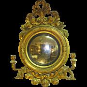 19th Century English Giltwood Girandole Mirror