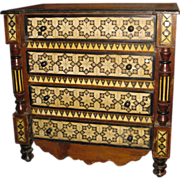 19th c. Moroccan Inlaid Chest
