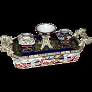 19th c. English Mason's Ironstone Inkstand