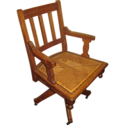 19th c. Eastlake Banker's Swivel Chair