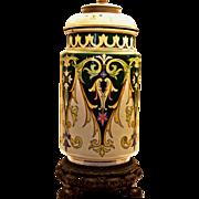 William Morris Style English Porcelain Table Lamp
