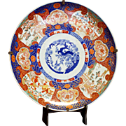 19th Century Edo Period Japanese Imari Charger