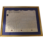SOLD English Indenture Legal Document on Parchment