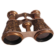 SOLD Vintage Engraved Brass Opera/Event Binoculars