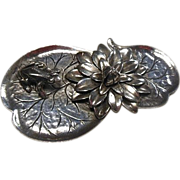 SALE Frog on Flowering Lily Pad by Cini