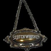 SALE Silver Plate & Enamel Scotch Whiskey Liquor Bottle Label