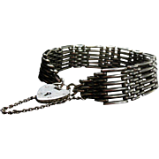 Sterling Silver Hallmarked English Gate Link & Padlock Bracelet