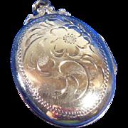 Birks Gold Gilt Overlay Sterling Silver Locket