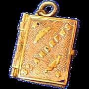 Antique Book Charm/Pendant of St Andrews, Scotland