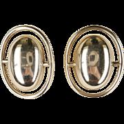 Vintage Large Modernist Design Sterling Taxco Earrings