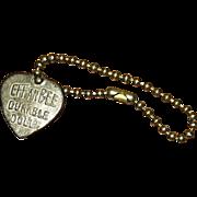 SOLD Effanbee heart bracelet 1930's